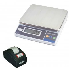 MEASURETEK EHX BENCH SCALE with TALLY ROLL PRINTER | weighingscales.com