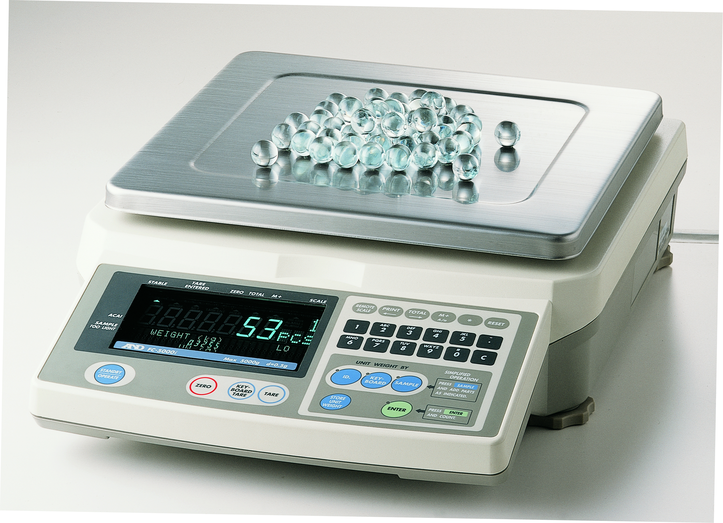 A&D FC-i / FC-Si SERIES COUNTING SCALES DESIGNED FOR EXTREME COUNT ACCURACY