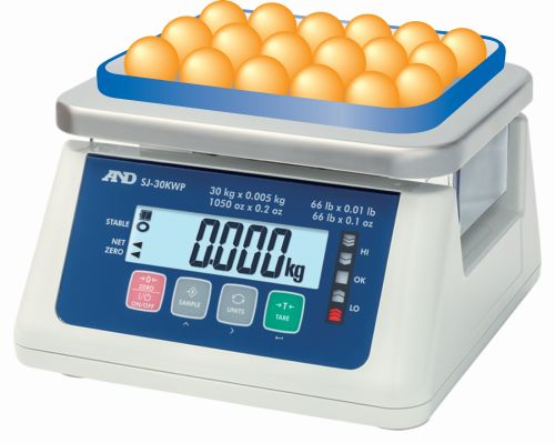 A&D SJ-WP SERIES WATERPROOF FOOD PROCESSING SCALE