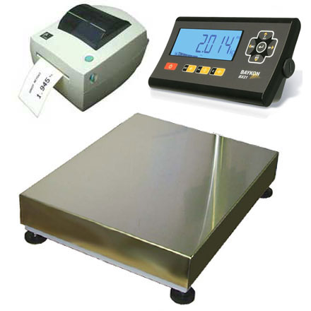 BAYKON BX21-LP LABEL PRINTING INDUSTRIAL FLOOR SCALES