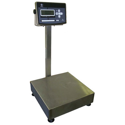 EXCELL PWST TRADE APPROVED STAINLESS BENCH - FLOOR SCALE