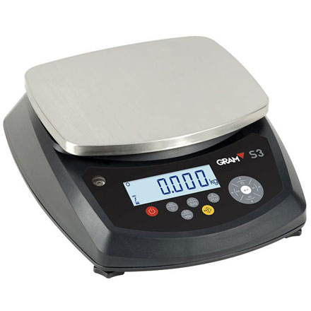 GRAM PRECISION S3 SERIES WATERPROOF FOODSAFE BENCH SCALE