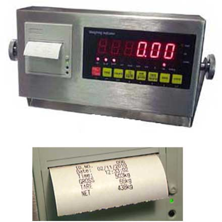 LOCOSC LPP SERIES STAINLESS STEEL WEIGHING INDICATOR with BUILT IN PRINTER