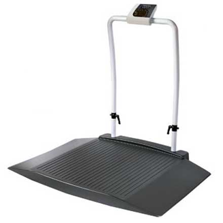SHEKEL WHEELCHAIR SCALE with WIDE RAMPS & HANDRAIL
