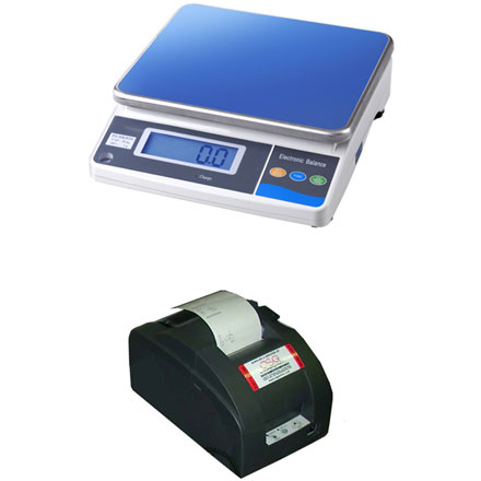 MEASURETEK EHX BENCH SCALE with TALLY ROLL PRINTER