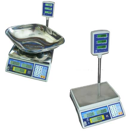 EXCELL FDP-110 DIGITAL RETAIL SCALES with TOWER DISPLAY