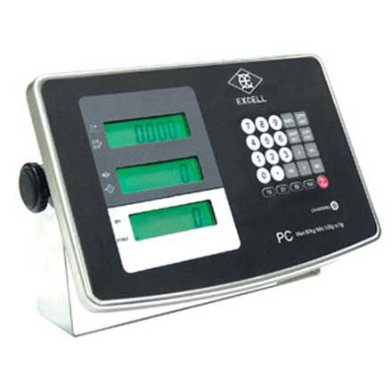 EXCELL PC WEIGHING / COUNTING INDICATOR Waterproof IP68 stainless steel weighing indicator with counting facility