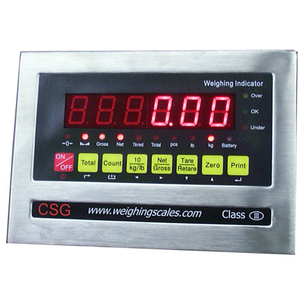 LOCOSC LP SERIES WEIGHING INDICATOR Stainless steel indicator unit with many functions