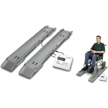 MARSDEN M-610 (MPWS-300) PORTABLE WHEELCHAIR WEIGH-BEAMS with BMI