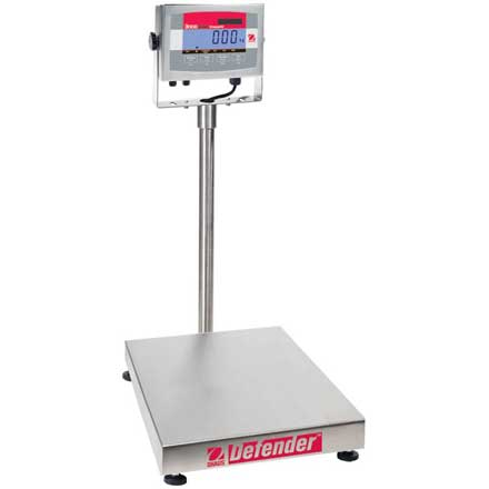 OHAUS DEFENDER 3000 STAINLESS FOOD INDUSTRY FLOOR SCALE