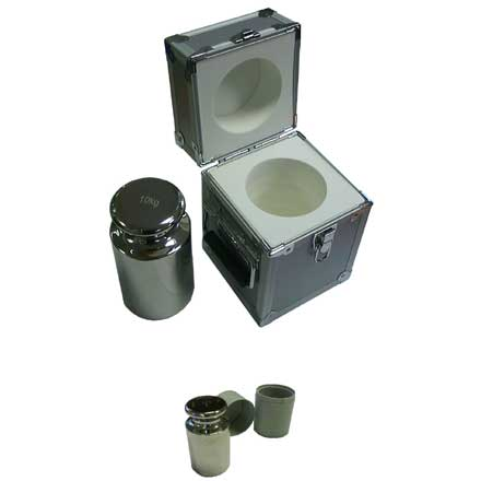 POLISHED STAINLESS STEEL CALIBRATION WEIGHTS with CONTAINERS Very high quality polished stainless steel weights