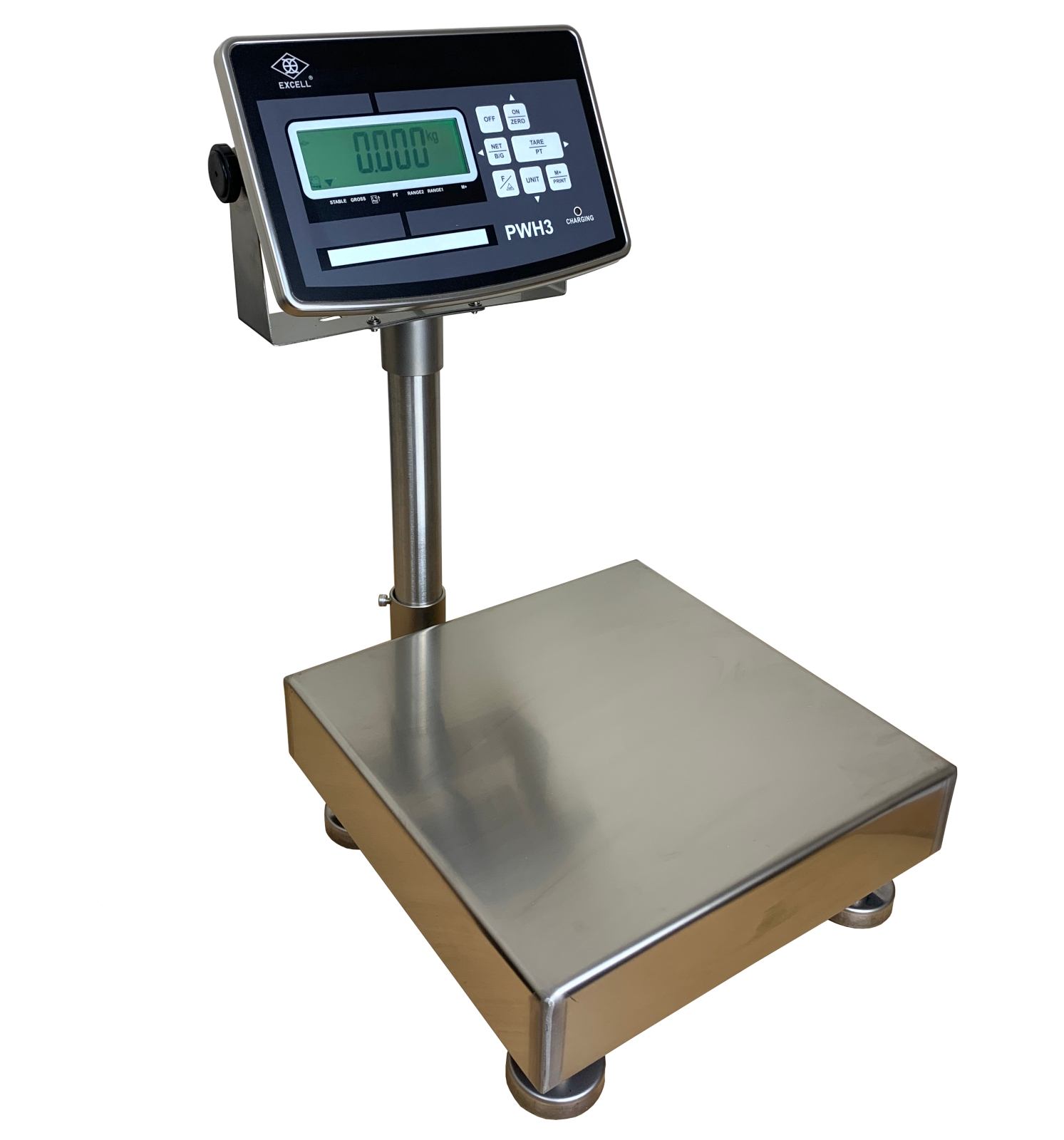 EXCELL PWST TRADE APPROVED STAINLESS BENCH - FLOOR SCALE - REDUCED